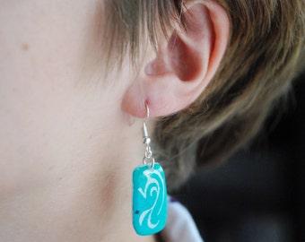 Abstract Dragon Earrings