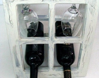 Wine Rack, Wine Holder, Wine glass holder choose your own color