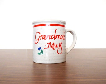 1980s Grandma's Mug Coffee Cup MCMLXXXIII American Greetings