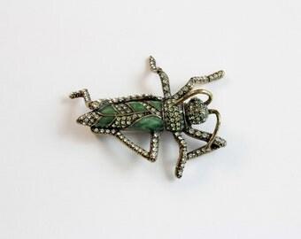 Heidi Daus  Grasshopper Brooch/Pin # 527