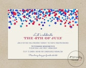 July 4th Invitation / Star Invitation / Independence Day Printable Invitation