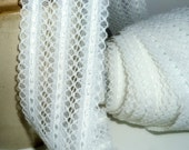 Wide Lace,Sewing Supply ,Trim, Lace ,White Lace, Ruffle Edge Lace