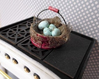 Duck Eggs in a Basket