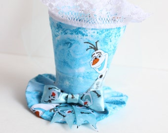Mini Top Hat - Olaf Mini Top Hat - Frozen Top Hat - Frozen Birthday Prop - Mad Hatter Top Hat