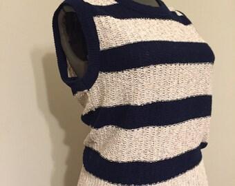 Vintage Sweater Vest / Vintage Vest / Striped Vest / Striped Sweater / Sweater Vest / Vest