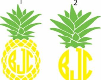 Monogrammed Pineapple Decal /RTIC YETI