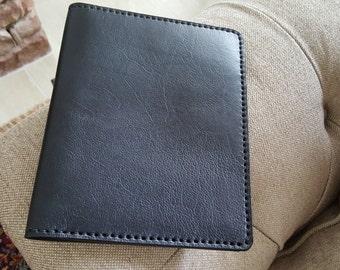 Ipad Mini Portfolio Notebook Genuine Leather Handmade-Black-USA Made