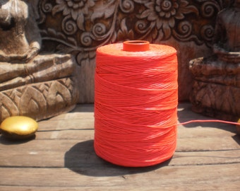 Wax Cotton Cord Bright Pink 100 Metres (109 Yards)