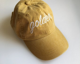 GOLDEN dad hat in mustard yellow