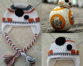Crochet Star Wars BB-8 Beanie/Hat