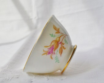 Royal Chelsea Vintage Small Footed Sugar Bowl Trinket Dish Pink Thistle Flower Bone China