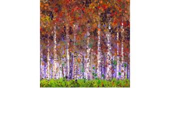 Autumn Treescape C 8x10 Color Print