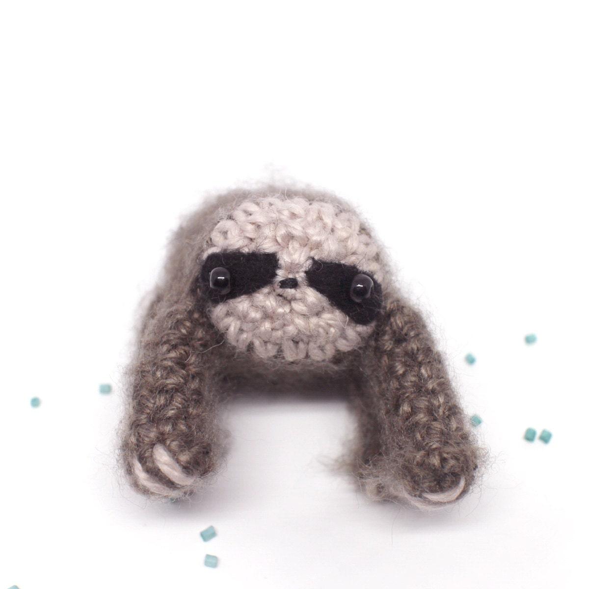 Amigurumi Stuffed Animals : sloth stuffed animal crochet amigurumi plush by mohustore ...