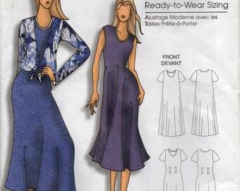 Shift Dress And Blouse Scoop Neckline Optional Waistline Tucks Size Xsm Sml Med Lrg Xlg Sewing Pattern 2007 Butterick B5049 Plus Size
