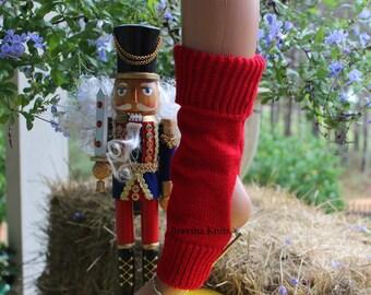 Red Yoga Socks,  Ballet Socks, Pilates Socks