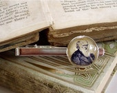 Charles Darwin Tie Clip - Darwin Tie Bar in Silver