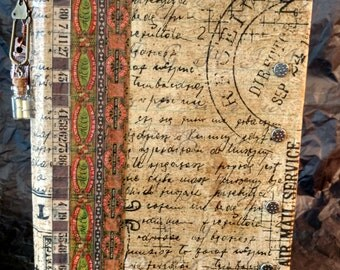 Journal - Collage - Hand Made - Masculine