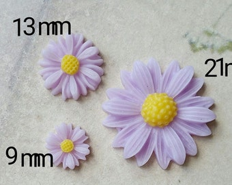 Light Purple Colour Little Chrysanthemum Resin Flowers of Different Sizes (.tc .sm .sg)
