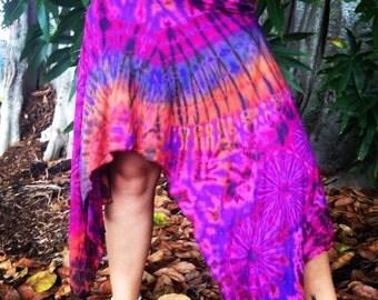 tie dye handkerchief skirt
