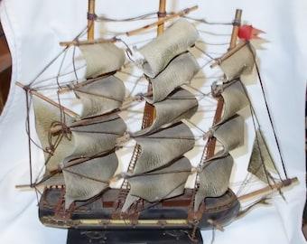 Sailing Ship Model Fragata Espanola 18th Century Spanish War Galleon Sail Boat Spanish Frigate