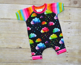 NB Raglan Shorts Romper, Baby Raglan Romper, NB Clothes, Infant Romper,  Baby Summer Outfit, Baby Shower Gift, made by The Corduroy Hippo