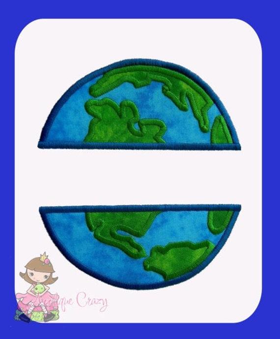 Split World Applique design