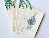 Holiday Gift Tags-Texas Bluebonnets Christmas Tree Star Bakers Twine Wildflowers
