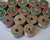 16  spools vintage pure silk buttonhole  Belding Corticelli Coats Clark size D  twist thread spools  2 spools free