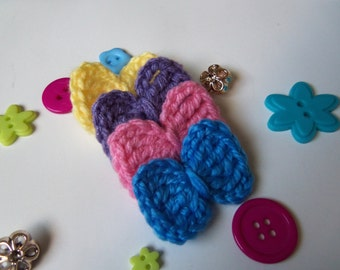 Assorted Crochet Bow Tie Appliques. Set of 8 Assorted Crochet Bow Tie Appliques