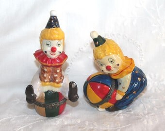 Vintage clown trinket box