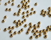 50 Gold Plated Smooth Rondelle Beads 3x2 mm