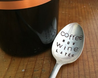 Coffee Now, Wine Later Spoon