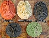 Bubble Baphomet or Inverted Pentagram Magick Ritual Soaps Vegan Love, Moon, Luck, Detox, Dark, Occult, Aromatherapy
