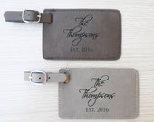 Pair (2) of Custom Wedding Luggage Tags: Personalized Bride Groom Luggage Tags, Anniversary Luggage Tags, Bride Groom Travel, Wedding Gift