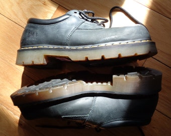 Vintage Doc Marten's Black Leather Suede  Industrial Steel Toe Shoes in Size Men's 11 in Good Vintage Condition, Made to Last a lifetime