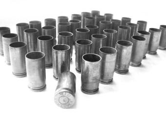 9mm Steel Bullet Casings Lot of 28 Silver Bullets