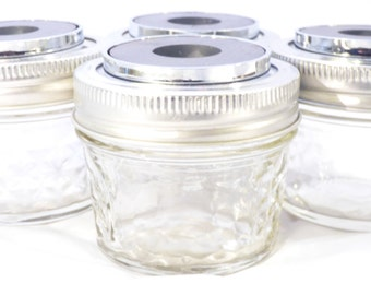 Quilted Mason Spice Jar Magnetic Lids - LIDS ONLY