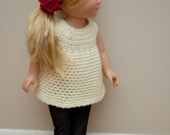 "The Hailey Top Crochet Pattern- American Girl Doll Pattern- 18"" Doll Pattern- INSTANT DOWNLOAD"