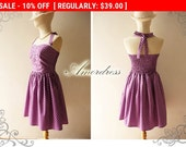 Flash Sale SALE Bella Purple Party Dress // Bridesmaid // Prom Wedding // Birthday // Inspired Halter Neck Dress Once Upon a Time -Size X...