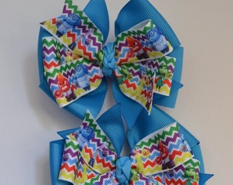 Set of Two Inside Out Hair Bows