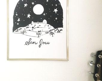 San Jose Lick Observatory Art Print Poster