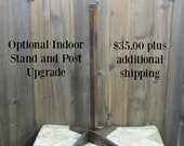 Indoor Stand for Signs - Made to Order to Accommodate Directional Signs - Sign Post Festivus Pole Seinfeld