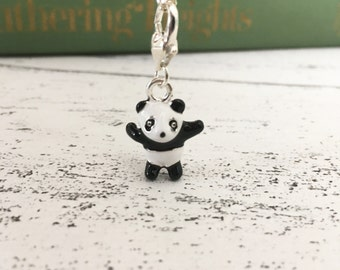 Panda necklace cute bear charm animal adorable - charm necklace - jewellery - gifts for her - etsy uk - animal necklace stocking stuffer