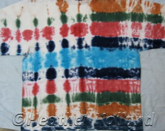 Tie Dyed T-Shirt Adults Size 7XL St Mark Cotton T-Shirt Muticoloured