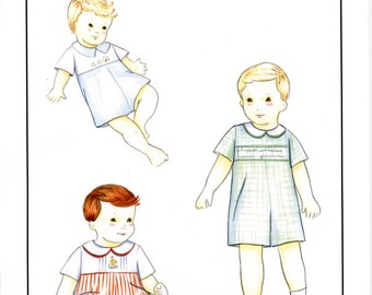 Boy's Romper Pattern / Baby or Toddler Romper / smocked or embroidered / by Creations by Michie #134