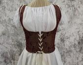 Brick Red and Gold Renaissance Costume-Halloween Costume-Medieval Dress-LARP-Ren Fair-Steampunk-SCA-Adult Costume-Fantasy Dress-Item #253