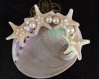 SeaShell Wedding ring Vesel, ring barer pillow alternative