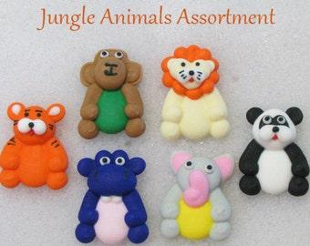 Jungle Animals Assortment Sugars Sprinkles  Baking  Cupcakes Cakes Cookies Jimmies 6