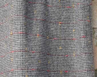 1950s grey wool pencil/ wiggle skirt with orange and red thread