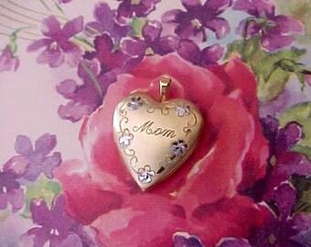"Beautiful Little Heart Shaped Locket for ""Mom"""